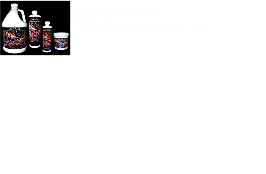 Featured Product﷯ Zap-Cal : Aquarium Equipment De-Scaler